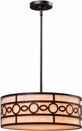 Kenroy Home 93383ORB Vista Oil Rubbed Bronze Drum Hanging Pendant Lighting