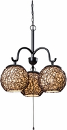 Kenroy Home 93403BRZ Castillo Contemporary Bronze Outdoor Mini Chandelier Lighting