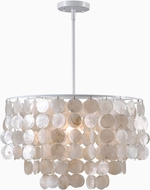 Kenroy Home 93409WH Shelley Modern White Hanging Light Fixture