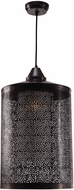 Kenroy Home 93440BLZ Sorcerer Contemporary Black Zinc Drop Lighting