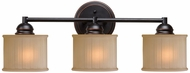 Kenroy Home 93573ORB Barney Oil Rubbed Bronze 3-Light Bathroom Sconce