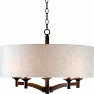 Kenroy Home 93637ORB Rutherford Oil Rubbed Bronze Drum Pendant Hanging Light