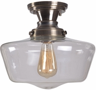Kenroy Home 93660AGM Cambridge Aged Metal Flush Mount Light Fixture