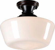 Kenroy Home 93660ORB Cambridge Oil Rubbed Bronze Flush Mount Lighting Fixture
