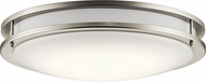 Kichler 10786NILED Modern Brushed Nickel LED Flush Mount Light Fixture