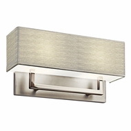 Kichler 10796SN Contemporary Satin Nickel Fluorescent Wall Sconce