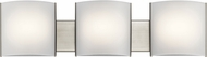 Kichler 10799NILED Contemporary Brushed Nickel LED 3-Light Lighting For Bathroom