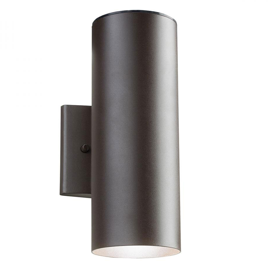 kichler 11251azt30 textured bronze led exterior wall lighting loading zoom