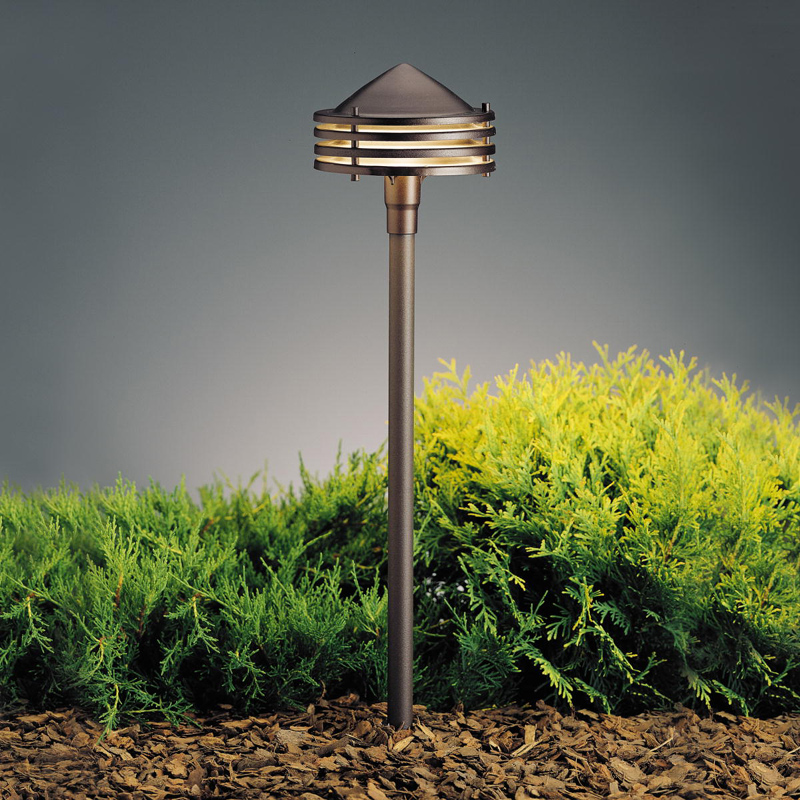 Kichler 15318AZT Textured Architectural Bronze 23 Inch Tall Outdoor Path  Light. Loading Zoom