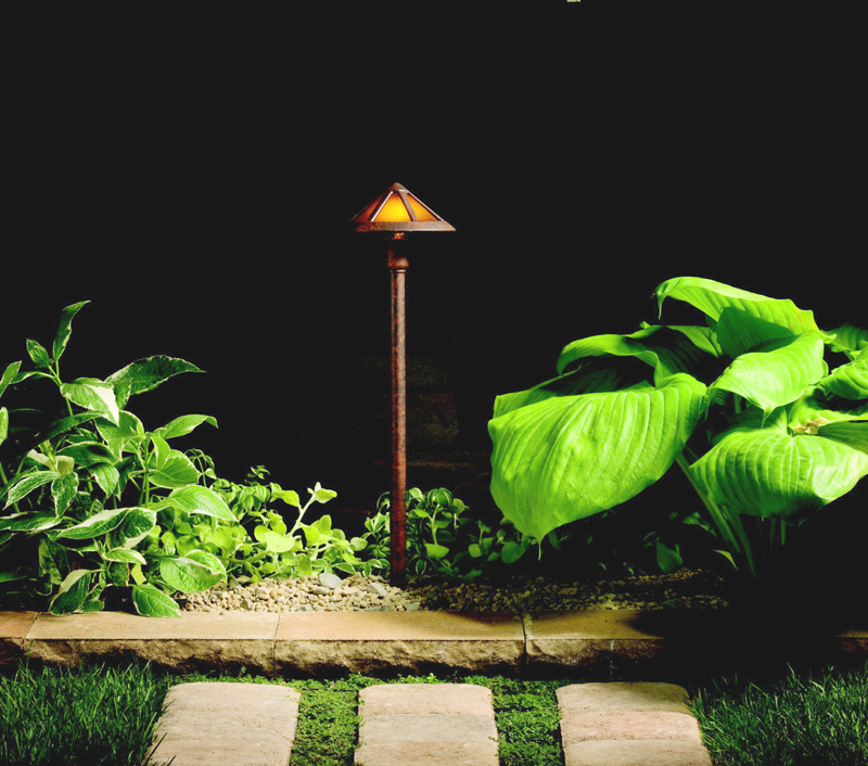 Kichler 15450tzt transitional 27 inch tall path light for Tall landscape lights