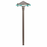 Kichler 15817AZT30R Glass and Metal Modern Textured Architectural Bronze LED Outdoor 3000k Path Lighting