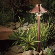 Kichler 15821CO Landscape LED Outdoor Copper Finish Path Light Fixture - 15 Inches Tall