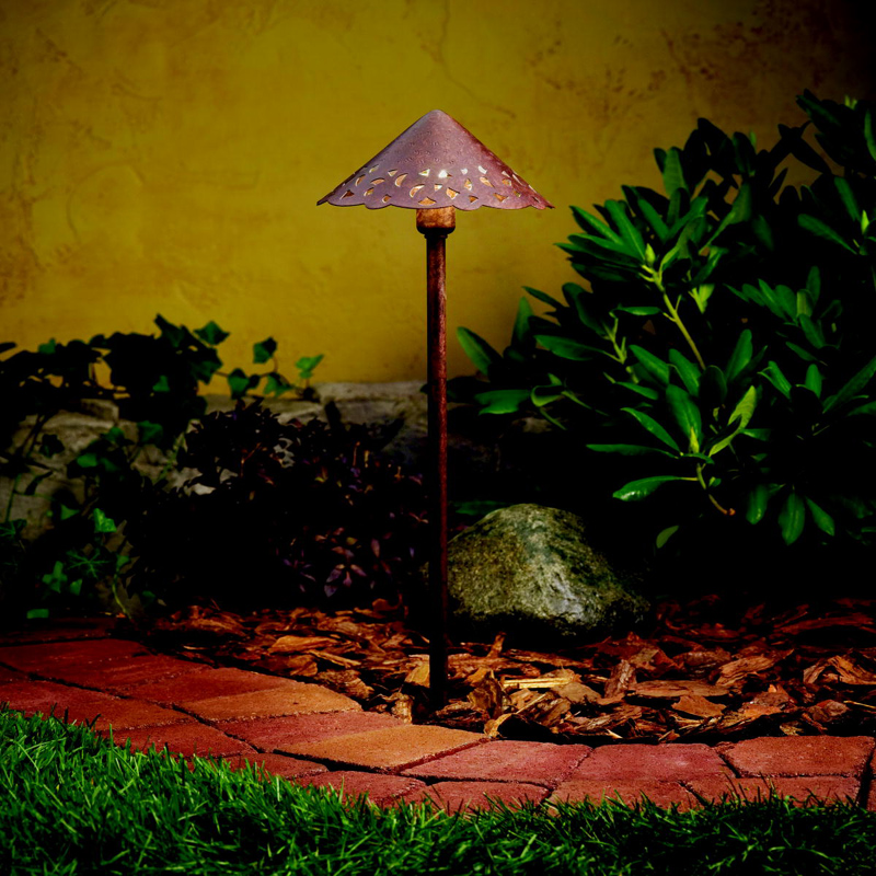 Kichler 15871tzt landscape led 22 inch tall textured for Tall landscape lights
