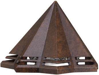 Kichler 16113TZT27 Contemporary Textured Tannery Bronze LED Exterior 2700k Deck Light