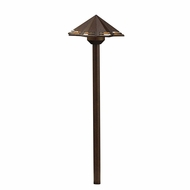 Kichler 16123TZT30 Modern Textured Tannery Bronze LED Outdoor 3000k Path Lighting
