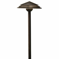 Kichler 16124AGZ30 Round Tiered Modern Aged Bronze LED Outdoor 3000k Path Lighting