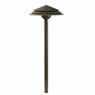 Kichler 16124CW30 Round Tiered Modern Crimson Wood LED Outdoor 3000k Path Lighting