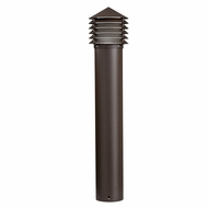 Kichler 16130AZT28 Louvered Contemporary Textured Architectural Bronze LED Exterior Path Light