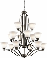 Kichler 1789OZL16 Langford Olde Bronze LED Hanging Chandelier