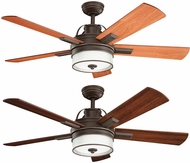 Kichler 300024OZ Lacey II Olde Bronze Medium Cherry / Walnut 52  Home Ceiling Fan