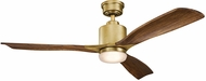 Kichler 300027NBR Ridley II Natural Brass Cherry 52  Indoor Home Ceiling Fan
