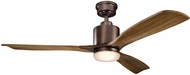 Kichler 300027OBB Ridley II Oil Brushed Bronze Walnut 52  Ceiling Fan