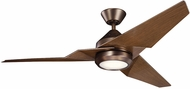 Kichler 300030OBB Jade Contemporary Oil Brushed Bronze Walnut 60  Indoor Home Ceiling Fan