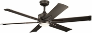 Kichler 300300OZ Szeplo Patio Modern Olde Bronze 60  Ceiling Fan