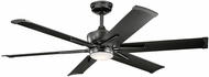 Kichler 300300SBK Szeplo Patio Contemporary Satin Black 60  Home Ceiling Fan