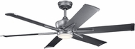 Kichler 300300WSP Szeplo Patio Modern Weathered Steel Powder Coat 60  Indoor Ceiling Fan