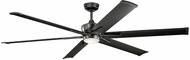 Kichler 300301SBK Szeplo Patio Modern Satin Black 80  Ceiling Fan