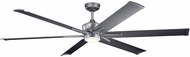Kichler 300301WSP Szeplo Patio Contemporary Weathered Steel Powder Coat 80  Home Ceiling Fan