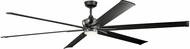 Kichler 300302SBK Szeplo Patio Contemporary Satin Black 96  Indoor Home Ceiling Fan