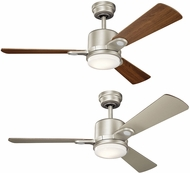 Kichler 300304NI Celino Brushed Nickel Walnut / Cherry 48  Home Ceiling Fan