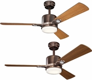 Kichler 300304OBB Celino Oil Brushed Bronze Cherry / Walnut 48  Indoor Ceiling Fan
