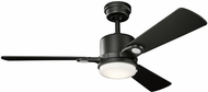 Kichler 300304SBK Celino Satin Black 48  Indoor Home Ceiling Fan