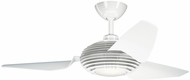 Kichler 300708WH Modern Clear White 50  Indoor Home Ceiling Fan