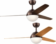 Kichler 300710OBB Bisc Modern Oil Brushed Bronze Walnut / Cherry 56  Home Ceiling Fan