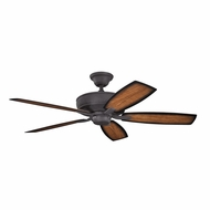 Kichler 310103DBK Monarch II Patio Distressed Black Finish Indoor / Outdoor 52 Inch Ceiling Fan