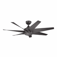 Kichler 310112DBK Lehr II Distressed Black Finish Indoor / Outdoor 54 Inch Home Ceiling Fan