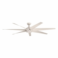 Kichler 310115ANS Lehr Modern Antique Satin Silver Finish Indoor / Outdoor 80 Inch Home Ceiling Fan