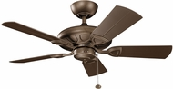 Kichler 310144WCP Kevlar Weathered Copper Powder Coat 42  Home Ceiling Fan