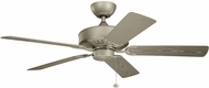 Kichler 310145ANS Enduro Antique Satin Silver 52  Indoor Home Ceiling Fan