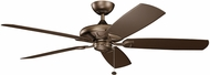 Kichler 310150WCP Kevlar Weathered Copper Powder Coat 60  Home Ceiling Fan