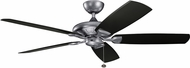 Kichler 310150WSP Kevlar Weathered Steel Powder Coat Satin Black 60  Indoor Ceiling Fan