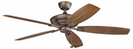 Kichler 310193WCP Tulle Patio Weathered Copper Powder Coat 60 Inch Ceiling Fan