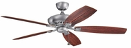 Kichler 310193WSP Tulle Patio Weathered Steel Powder Coat 60 Inch Home Ceiling Fan