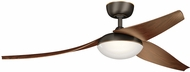 Kichler 310700OZ Modern Olde Bronze Walnut 60  Indoor Home Ceiling Fan
