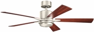 Kichler 330000NI Lucian Brushed Nickel Silver / Walnut 52  Home Ceiling Fan