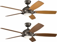 Kichler 330001OZ Geno Olde Bronze Walnut / Cherry 54  Home Ceiling Fan